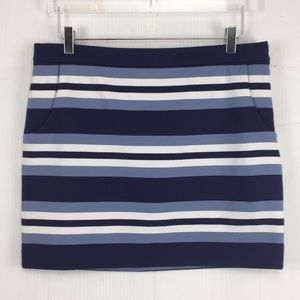 Michael Kors Stripe Skirt with Pockets Sz 12